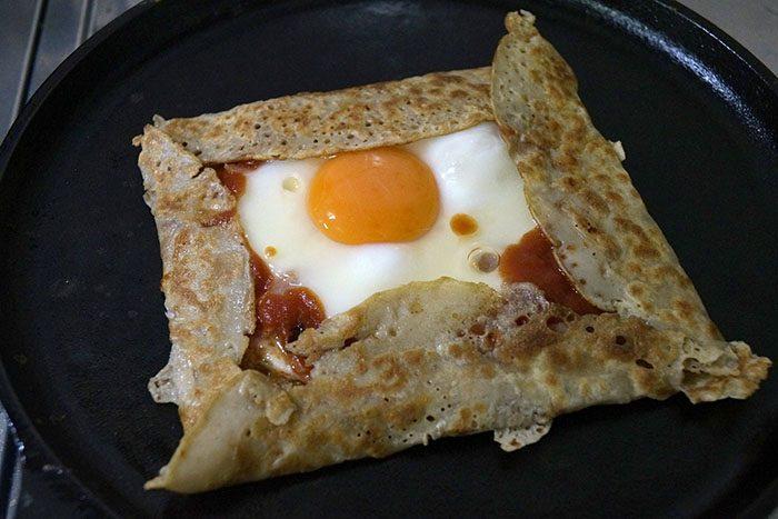 卵を焼いていきます