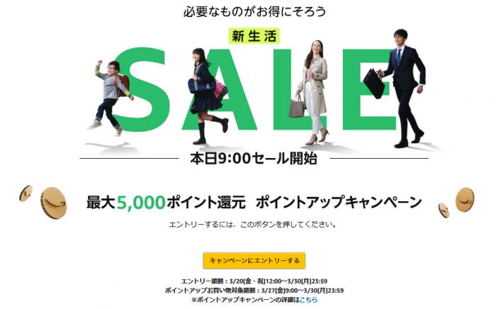 Amazon 新生活SALE