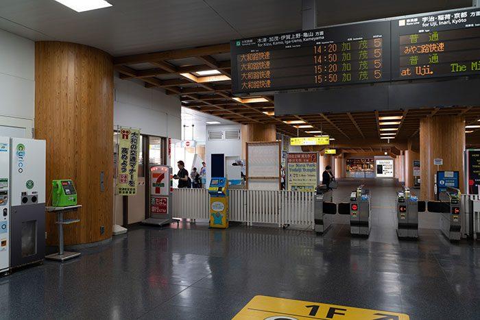 JR奈良駅 改札内の風景