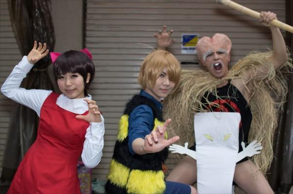 日本橋ストリートフェスタ2015 写真 ゲゲゲの鬼太郎 猫娘 子泣き爺