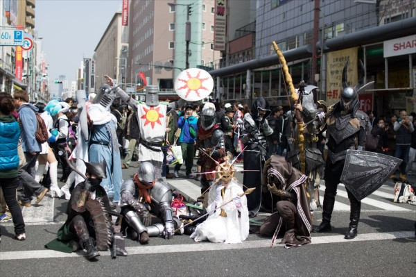 日本橋ストリートフェスタ2015 写真 ダークソウルなひとたち