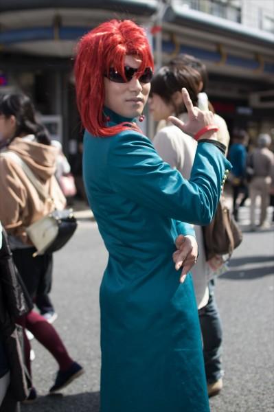 日本橋ストリートフェスタ2015 写真 ジョジョの奇妙な冒険 花京院典明