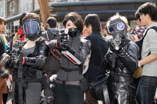 日本橋ストリートフェスタ2015 写真 女性アンブレラ社のひとたち