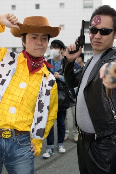 日本橋ストリートフェスタ2015 写真 ウッディとT800