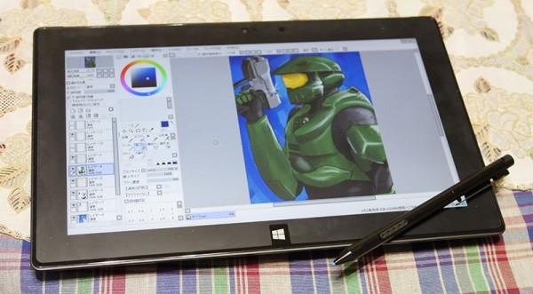 Surface Pro 2 ワコムのデジタイザ(ペンタブレット)で描いてみた